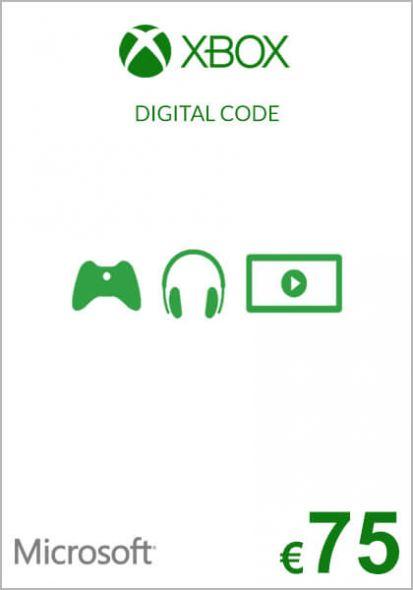 ES Xbox 75€ Dovanų Kortelė (Xbox One & 360)