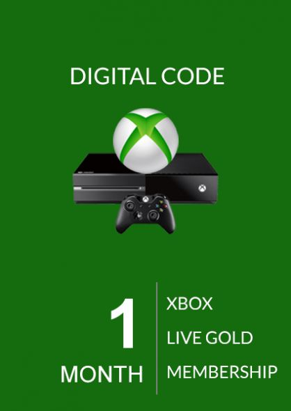Xbox Live 1 Month Gold Membership (Xbox One & 360)