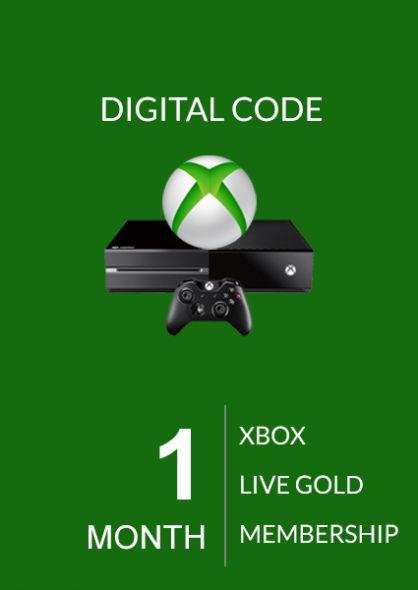 Xbox Live Gold 1 Mėnesio Prenumerata (Xbox One & 360)
