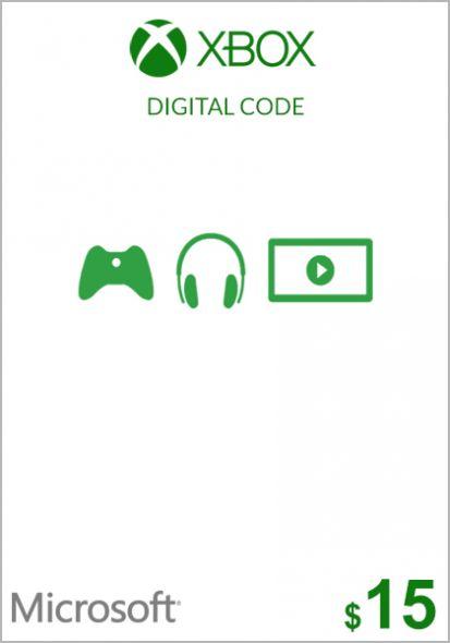Usa Xbox 15 Dollar Kinkekaart Xbox One 360 Punktid