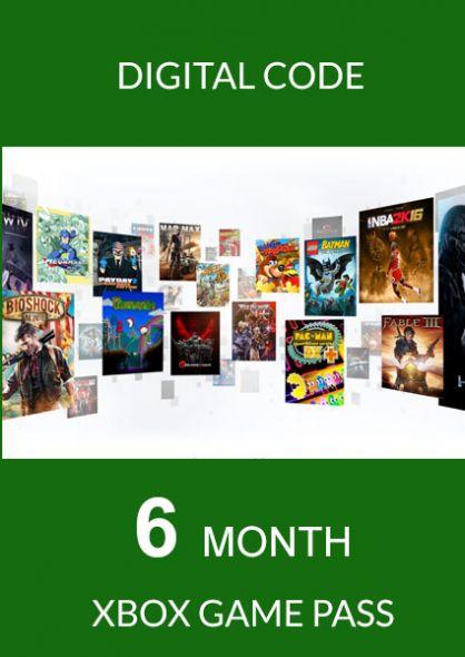 Xbox Game Pass 6 Month Membership (Xbox One)