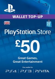 UK PSN 50 GBP Gift Card
