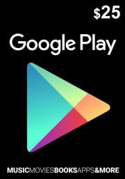 USA Google Play 25 USD Dovanų Kortelė