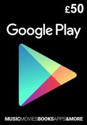 UK Google Play 50 GBP Dovanų Kortelė