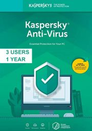Kaspersky Anti-Virus 2019 (3 Users, 1 Year)