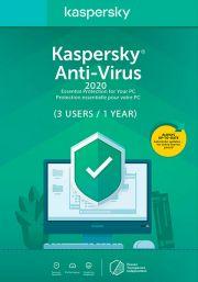 Kaspersky Anti-Virus 2020 (3 Vartotojas - 1 metų)