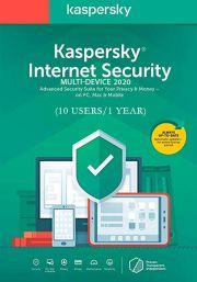 Kaspersky Internet Security Multi-Device 2020 (10 vartotojų - 1 metų)