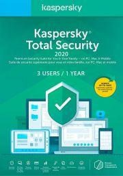 Kaspersky Total Security 2020 (3 vartotojų - 1 metų)