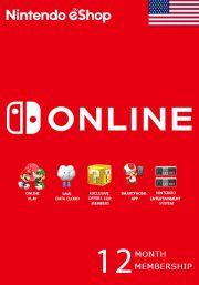 USA Nintendo 12 Mėnesių Prenumerata
