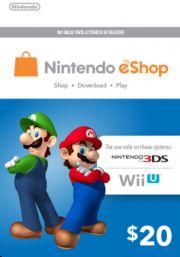 JAV Nintendo 20 USD eShop Dovanų Kortelė