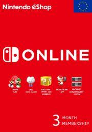 EU Nintendo 3 Mėnesių Prenumerata