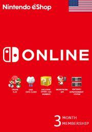 USA Nintendo 3 Mėnesių Prenumerata