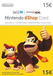 EU Nintendo 15 EUR eShop Dovanų Kortelė