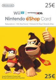 EU Nintendo 25 EUR eShop Dovanų Kortelė