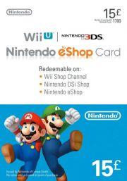 JK Nintendo 15 GBP eShop Dovanų Kortelė