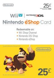 JK Nintendo 25 GBP eShop Dovanų Kortelė