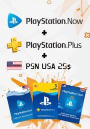 JAV PSN 3 Mėnesių Rinkinys