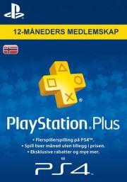 PSN Plus 12 Mėnesių Prenumerata (Norvegija)