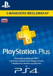 PSN Plus 3 Mėnesių Prenumerata (Norvegija)