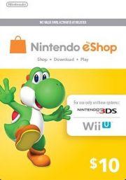 JAV Nintendo 10 USD eShop Dovanų Kortelė