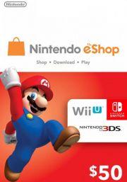 JAV Nintendo 50 USD eShop Dovanų Kortelė