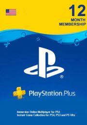 PSN Plus 12 Mėnesių Prenumerata (JAV)