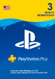 PSN Plus 3 Mėnesių Prenumerata (JAV)