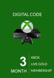 Xbox Live Gold 3 Mėnesių Prenumerata (Global)