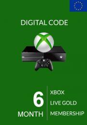 EU Xbox Live Gold 6 Mėnesių Prenumerata