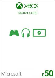 UK Xbox 50 Pound Gift Card (Xbox One & 360)