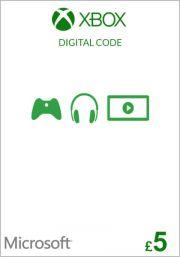 JK Xbox £5 Dovanų Kortelė (Xbox One & 360)