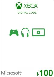 JAV Xbox 100$ Dovanų Kortelė (Xbox One & 360)