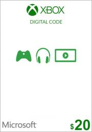 JAV Xbox 20$ Dovanų Kortelė (Xbox One & 360)
