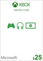 JAV Xbox 25$ Dovanų Kortelė (Xbox One & 360)