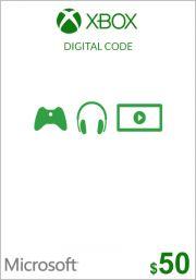 JAV Xbox 50$ Dovanų Kortelė (Xbox One & 360)