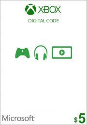 JAV Xbox 5$ Dovanų Kortelė (Xbox One & 360)