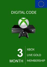 EU Xbox Live Gold 3 Mėnesių Prenumerata