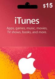 iTunes JAV 15 USD Dovanų Kortelė
