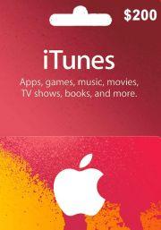 iTunes JAV 200 USD Dovanų Kortelė