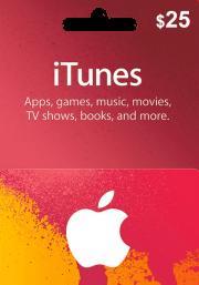 iTunes JAV 25 USD Dovanų Kortelė