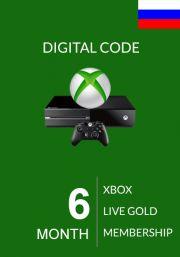 RUS Xbox Live 6 Mėnesių Prenumerata (Xbox One & 360)