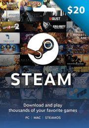 JAV Steam 20 USD Dovanų Kortelė