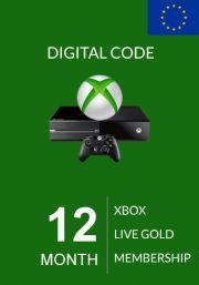 EU Xbox Live Gold 12 Mėnesių Prenumerata (Xbox One & 360)