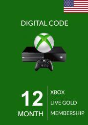 USA Xbox Live Gold 12 Mėnesių Prenumerata