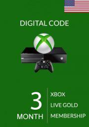 USA Xbox Live Gold 3 Mėnesių Prenumerata